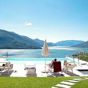 Ferienwohnung am Comer See mit Pool und Aussicht